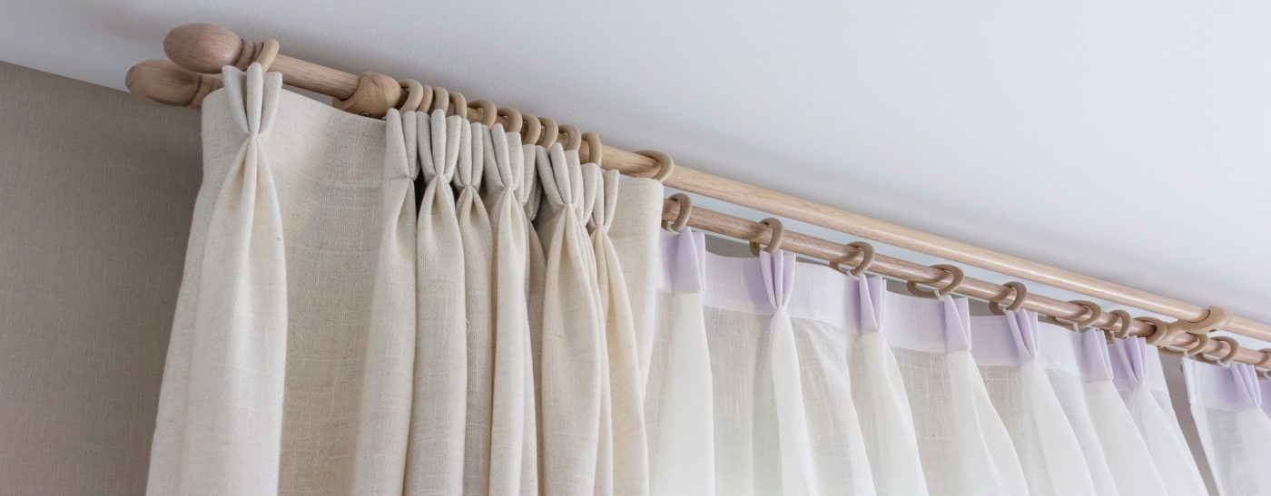 White Curtains with Rings