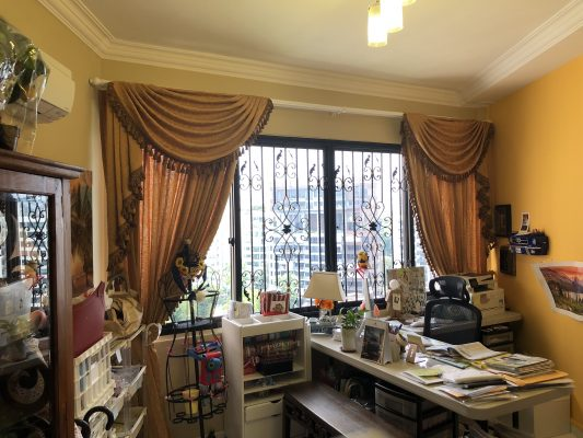 Room with S-Fold Curtains