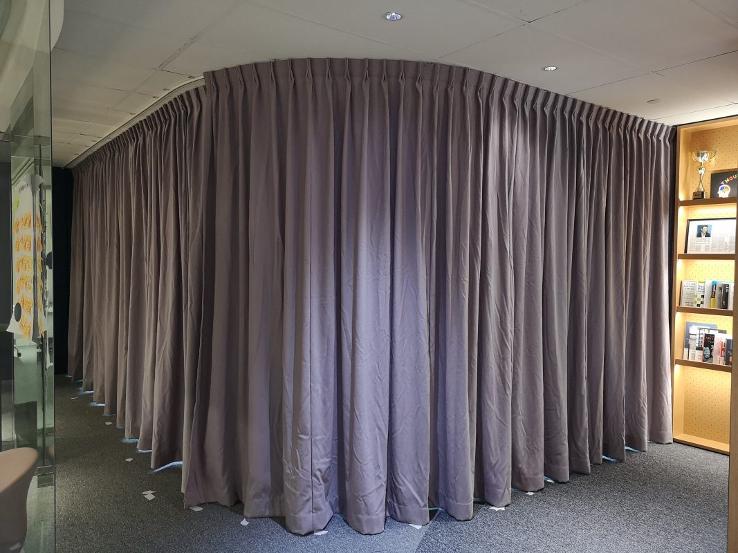 Pulling Curtains to Cover Up