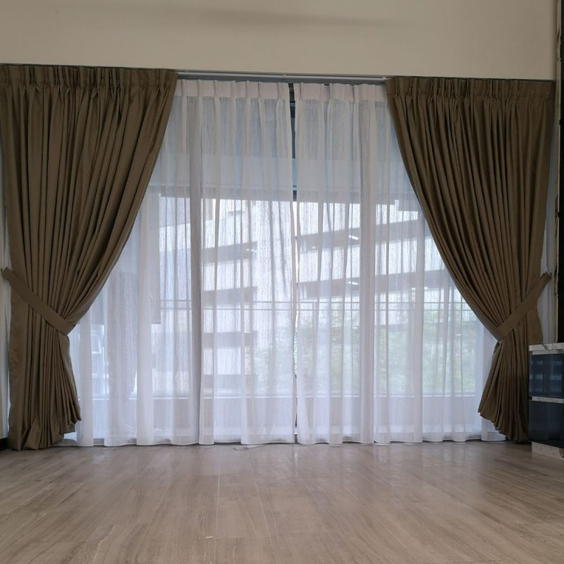 Brown Window Curtain